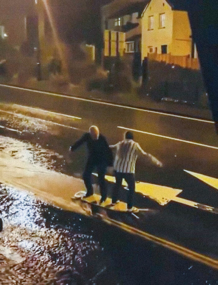 They Were Surfing On An Ironing Board In A Rain - Now I Understand The Importance Of Finding Someone To Grow Old With