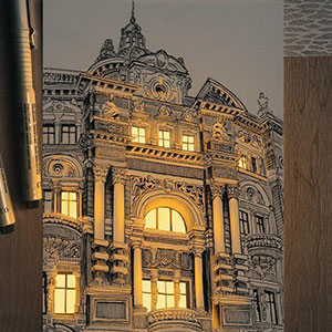 Artist Creates Pen And Ink Drawings That Look Like They're Illuminated With Real Lights (12 Pics)
