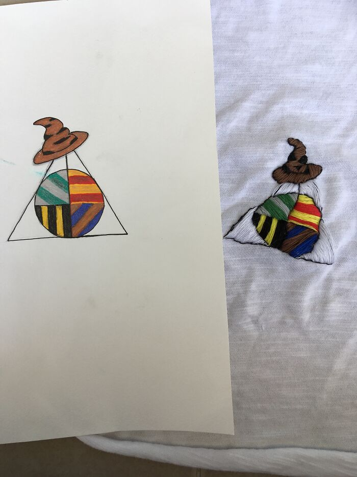 Drawn And Embroidered Versions