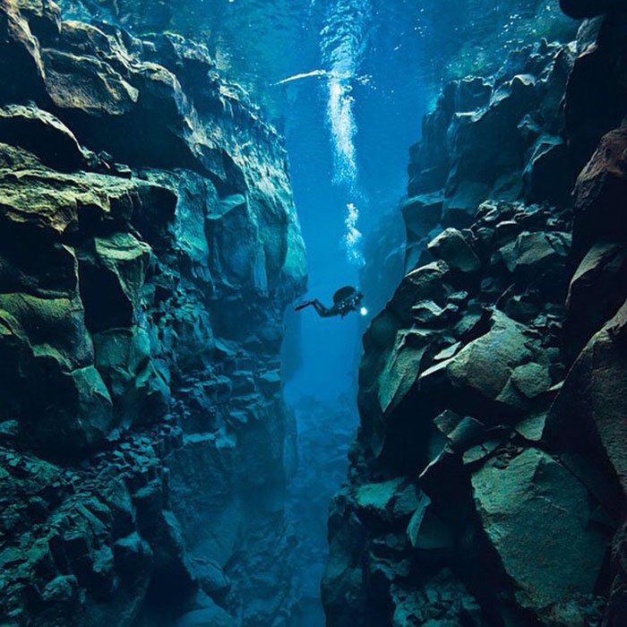 Iceland Is The Only Place In The World Where You Can Swim Between Two Tectonic Plates