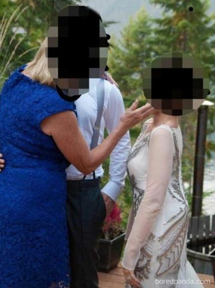 Esta novia comparte una foto de su suegra irrumpiendo e interrumpiendo su primer baile con el marido