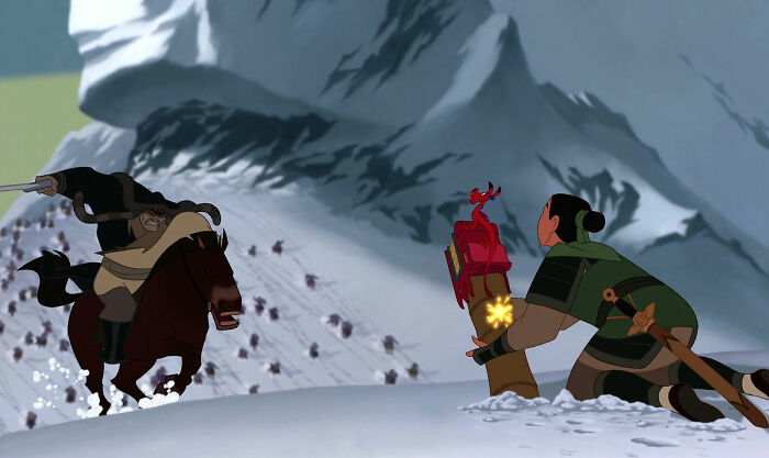"In Disney's Mulan (1998) - Mulan Is Told ""A Girl Can Bring Her Family Great Honor In One Way...by Striking A Good Match."" Both Of Mulan's Victories Over The Huns Involved Lighting Explosives"
