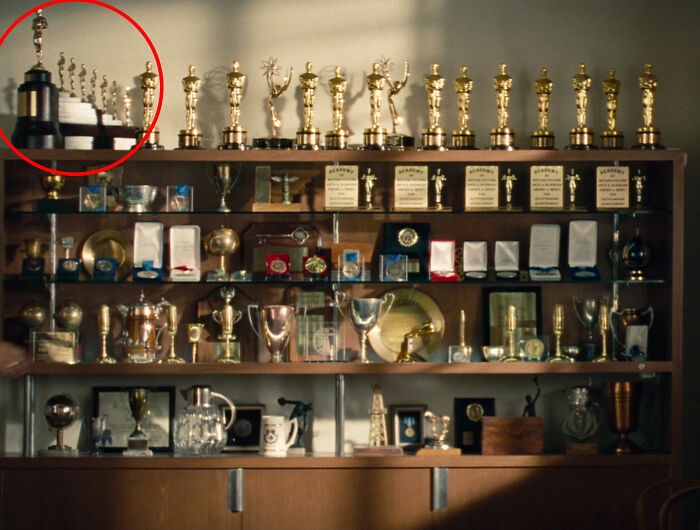 In Saving Mr Banks (2013), You Can See The Special Oscar That Walt Disney Won For Snow White And The Seven Dwarfs