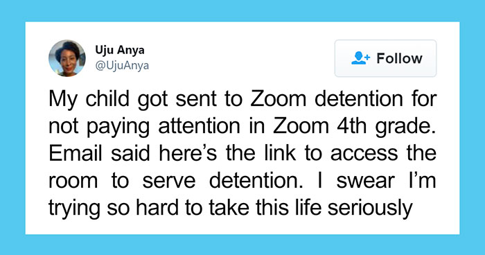 4th Grader Gets Sent To Detention Via Zoom, Mother Starts A Viral Twitter Thread Explaining How Ridiculous That Is