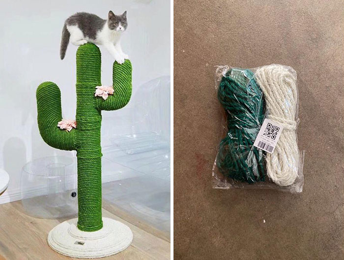 The One On The Left Is What My Mom Ordered For Our Cats, The Right One Is What Arrived In The Mail