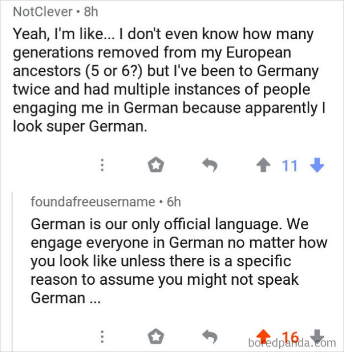 People Engaging Me In German Because I Look German