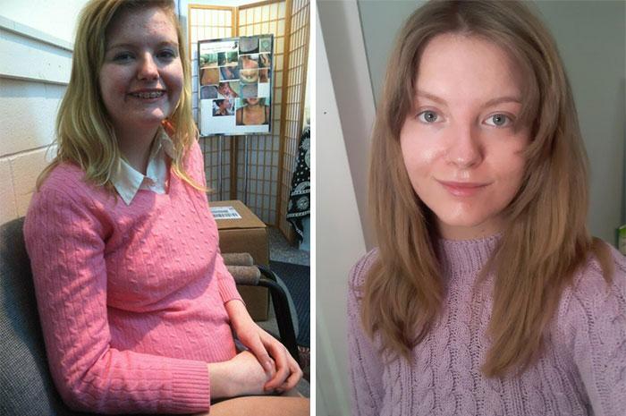 2012 y 2021. En la 1ª llevo maquillaje y en la 2ª no
