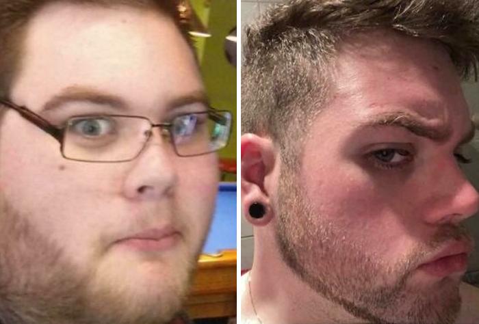 De los 19 a los 25 años, y 85 kilos de diferencia