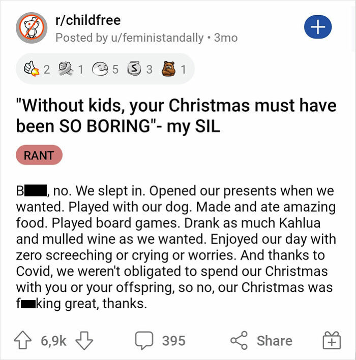 """""""Without Kids, Your Christmas Must Have Been So Boring""""- My Sil"""