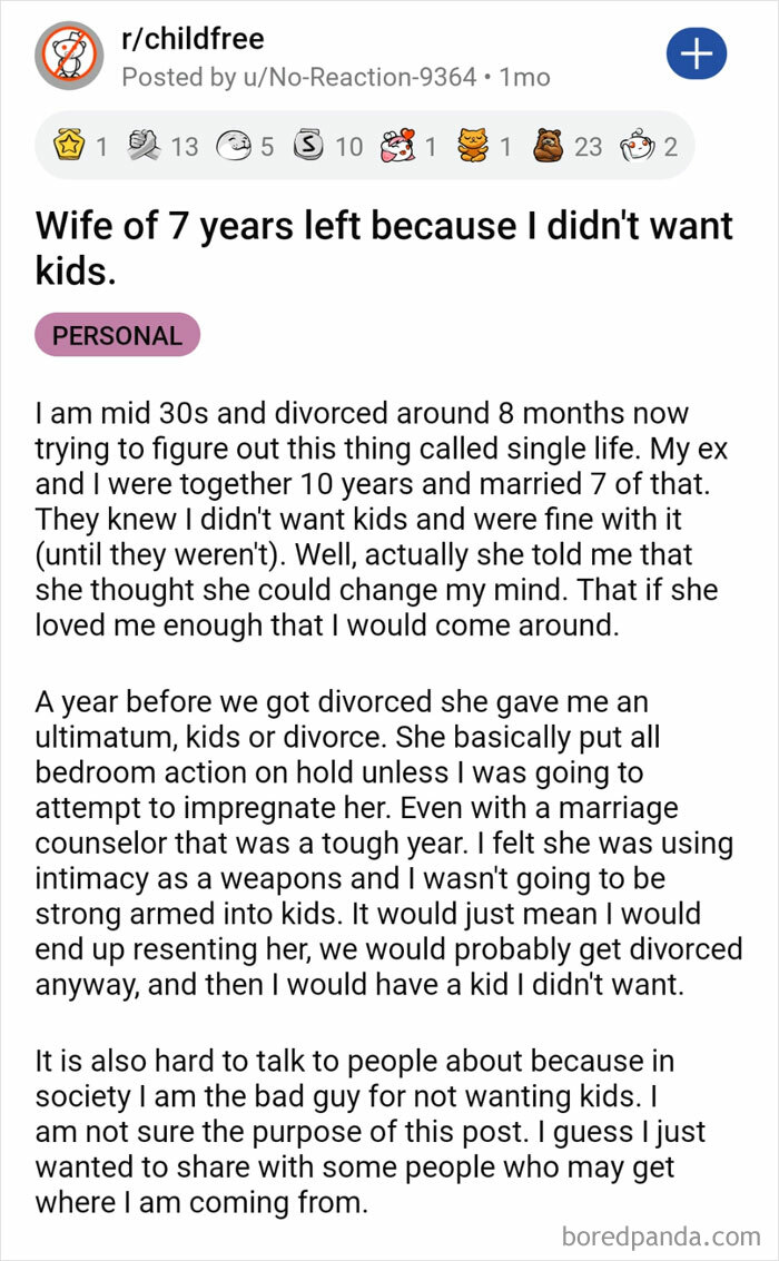 Wife Of 7 Years Left Because I Didn't Want Kids