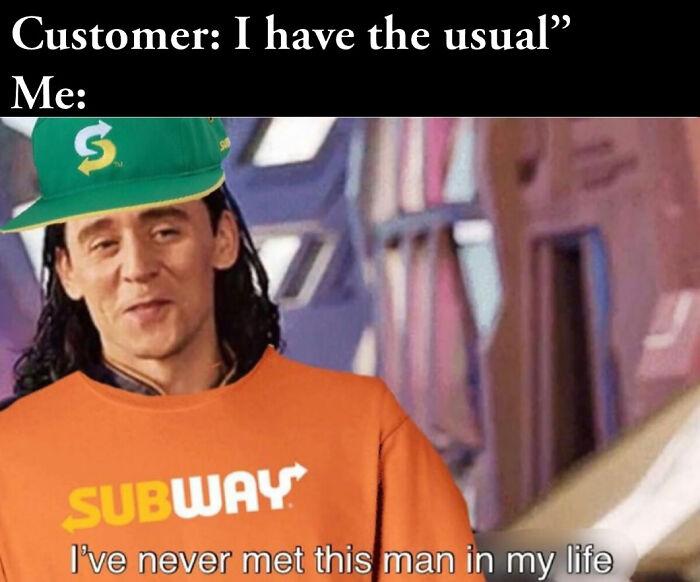 Loki On Subway Doing His Thing
