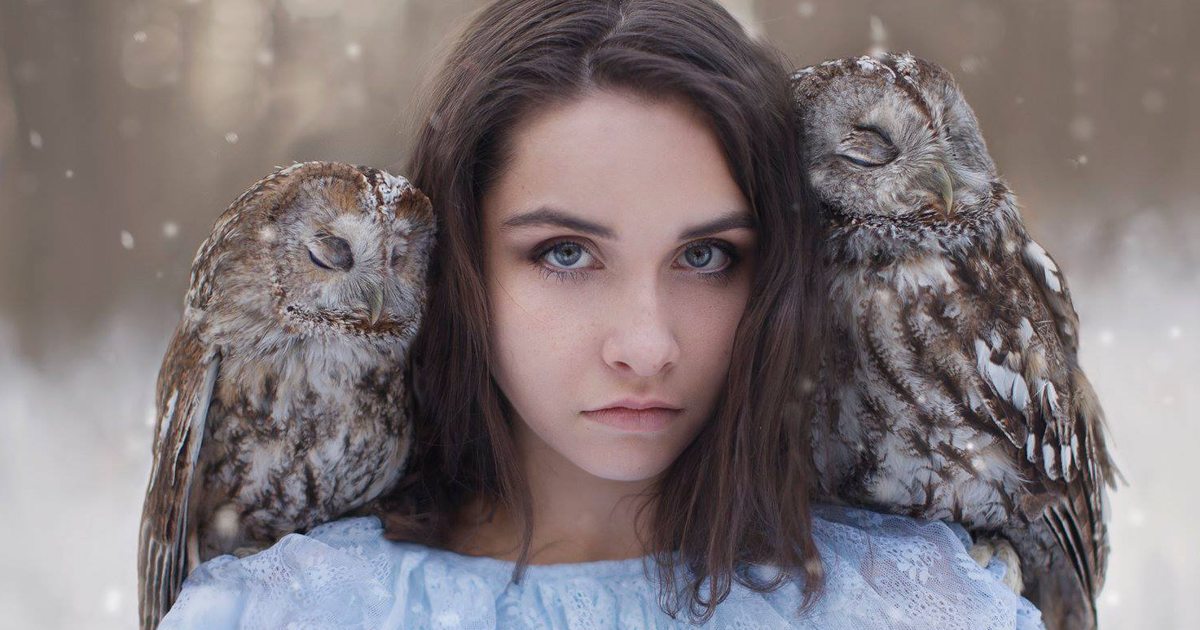 This Russian Photographer Takes Portraits With Animals, And They Look Ethereal (52 Pics)