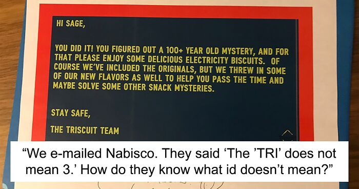 """Guy Realizes What """"Tri"""" In """"Triscuit"""" Means, Shares The Revelation On Twitter"""