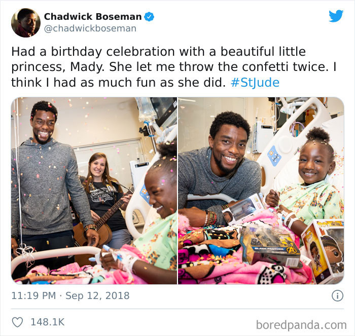 The Late Great Black Panther Chadwick Boseman Visiting And Making The Absolute Day Of Cancer-Stricken Kids In The Hospital, All The While Quietly Battling The Same Disease
