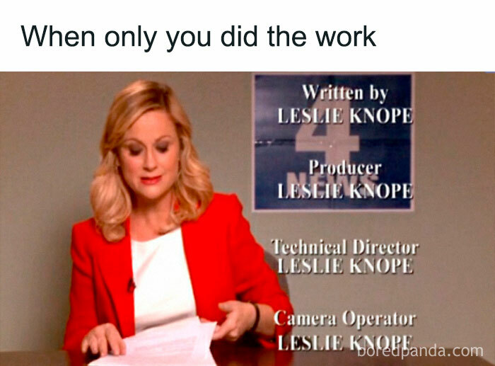 When Only You Did The Work