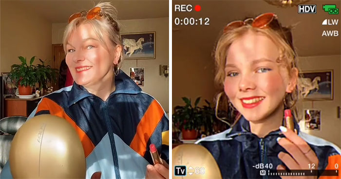 A Viral TikTok Trend Shows Parents And Their Children With A Retro Filter And Proves How Similar Parents And Children Are (30 Pics)