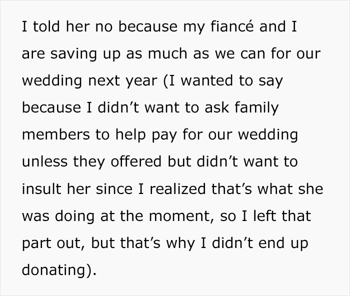 Woman Refuses To Contribute $500 To Fund Her Cousin's Wedding, Family Drama Ensues