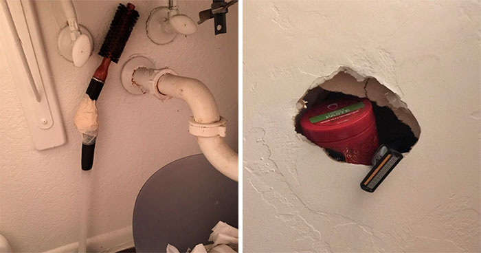 People On Twitter Share Pics Of Weird Stuff In Guys' Bathrooms And Here Are 35 Of The Best Ones