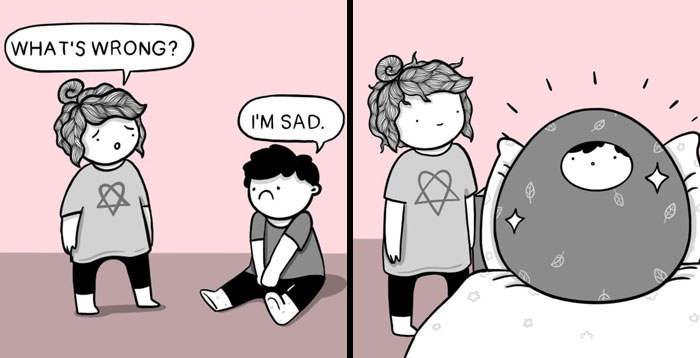 Artist Illustrates Her Daily Struggles And Life With Her Boyfriend In 30 Comics (New Pics)