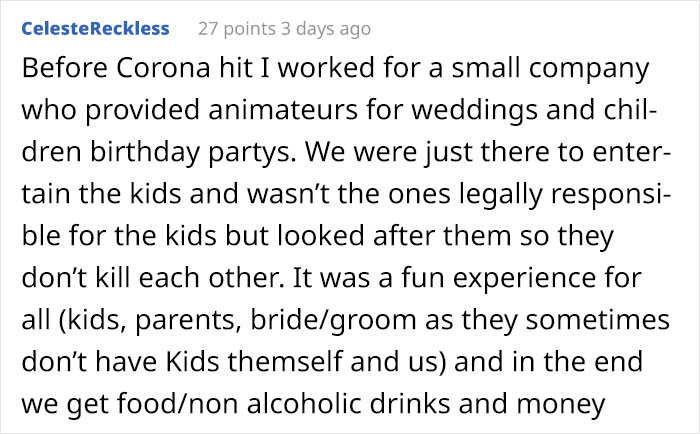 Woman Asks If She Was Wrong To Refuse A Wedding Invite Because She'd Have To Babysit The Guests' Kids For Free