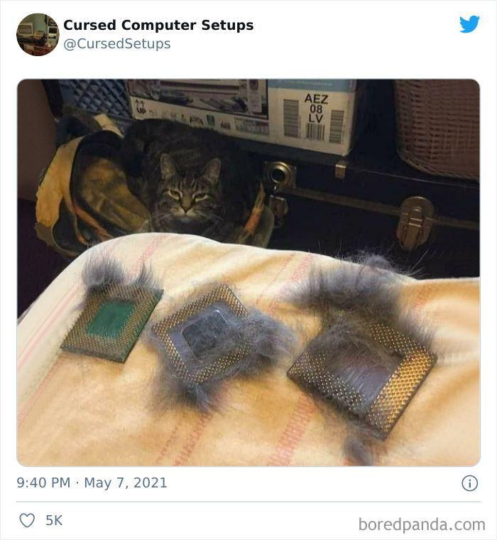 30 Times People Had Such Terrible Computer Setups, They Could Only Be Described As 'Cursed', As Shared By This Twitter Account