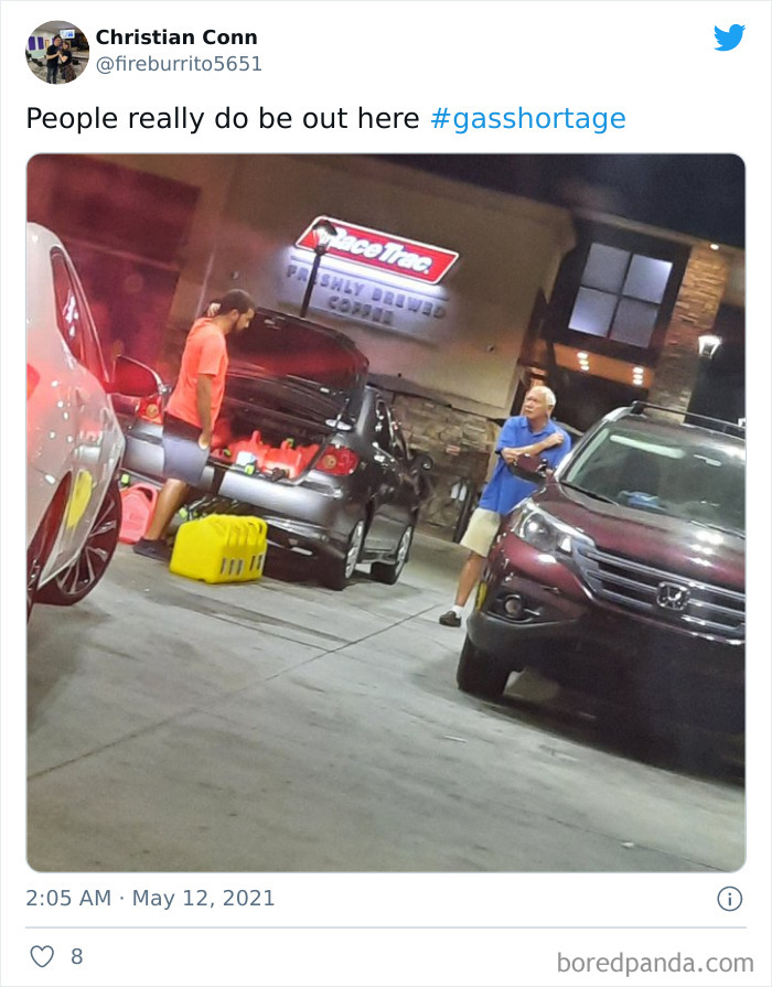 People Are Hoarding So Much Gas They Can't Fit It In Their Tiny Car