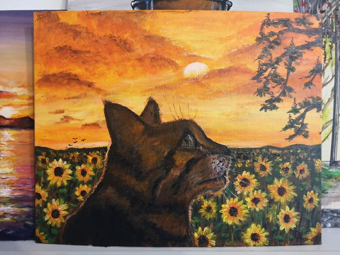 Pixie With Sunflowers
