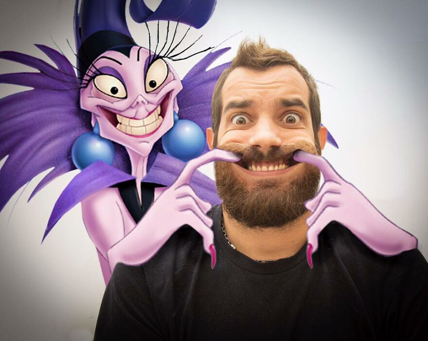 This Guy Keeps Bringing Disney Characters Into The Real World And The Result Couldn't Be More Hilarious (52 New Pics)