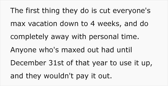 Employee Worked For A Company For 4 Decades And Got His Vacation Time Cut So He Took His Sweet Revenge