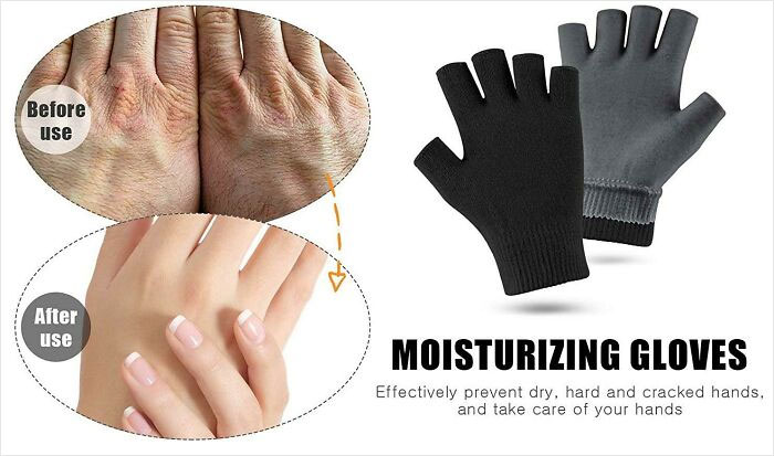 """""""Moisturizing Gloves"""" Turn Your Hairy Elderly Hands Into Hairless Young Woman Hands"""