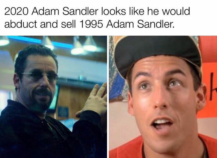 Why Does Adam Sandler Look Like That Tho?