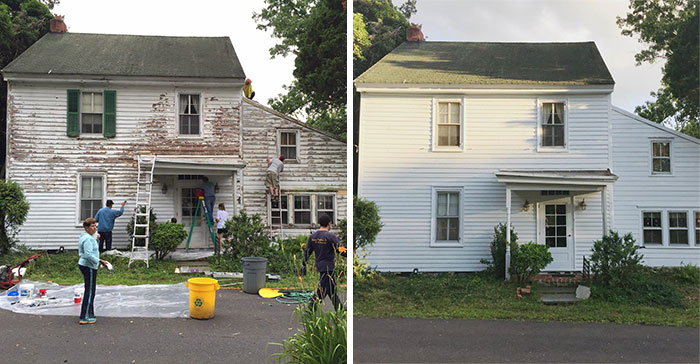 These Kind Neighbors Repaired And Painted The House Of A Lonely, Retired School Teacher For Free