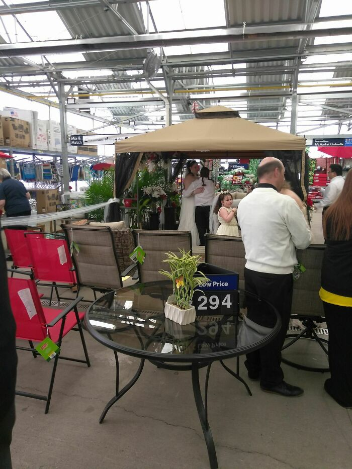 Wasn't Expecting To See A Wedding When I Stopped At Wal*mart This Weekend...