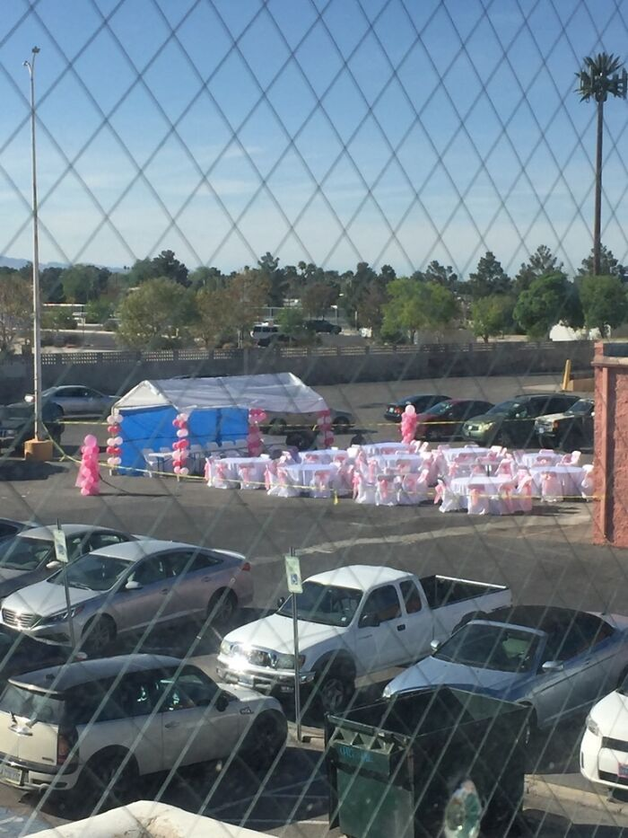 Someone Hosted Their Wedding Today In The Welfare Office Parking Lot