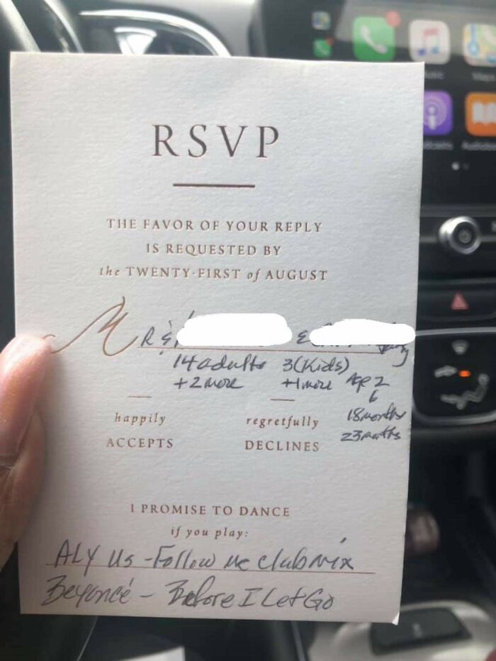 Inviting 20 Extra People To A Wedding