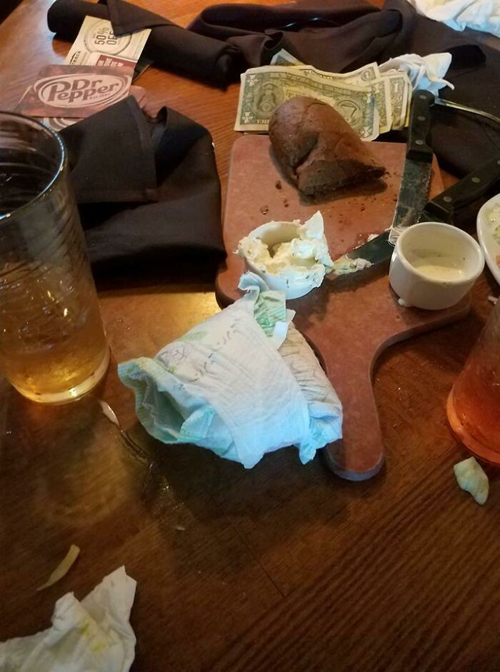 My Cousin Just Posted This On Facebook. She Is A Waitress At Outback And This Was Left Behind