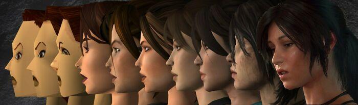 Lara Croft Progression - 1996 To 2018
