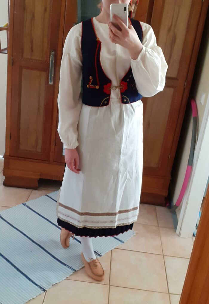This Is Me Wearing My Great Grandmothers Traditional Finnish Dress From 1936