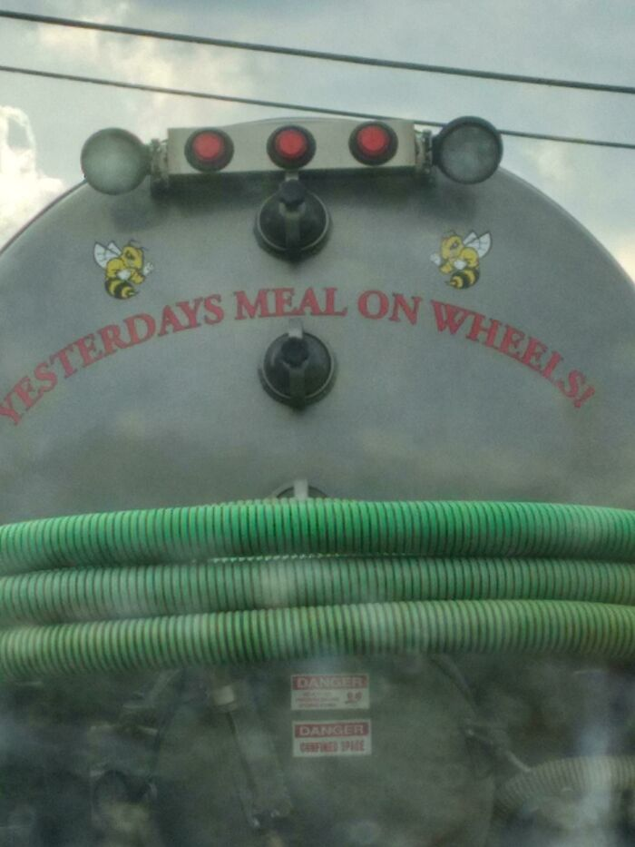 Septic Truck I Got Stuck Behind The Other Day