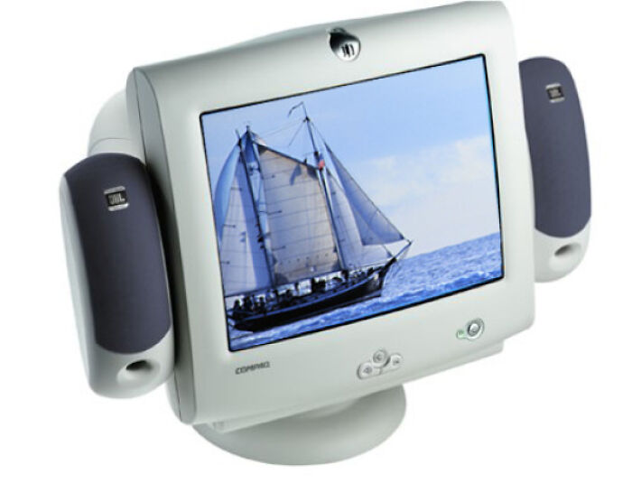 Speakers That Attached To The Monitor