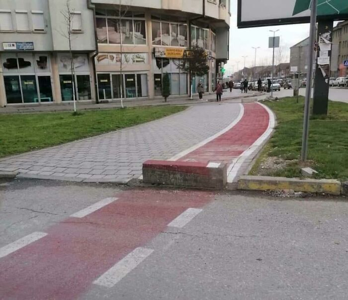 Our Municiplaity Made Bike Lanes For Us Finally!