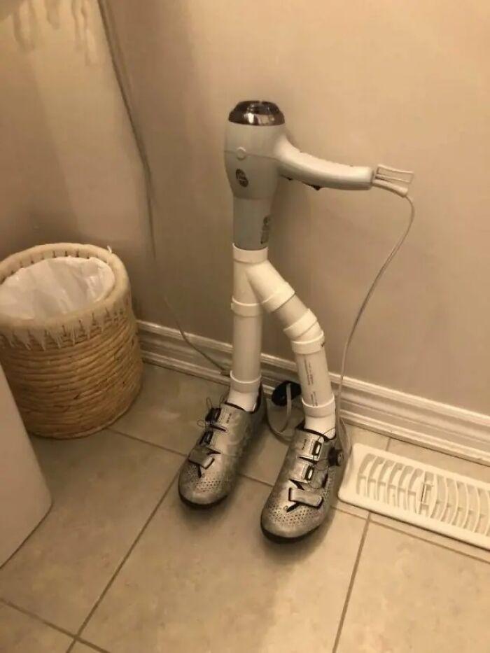 Muy bonito prototipo de secador de zapatos para ustedes