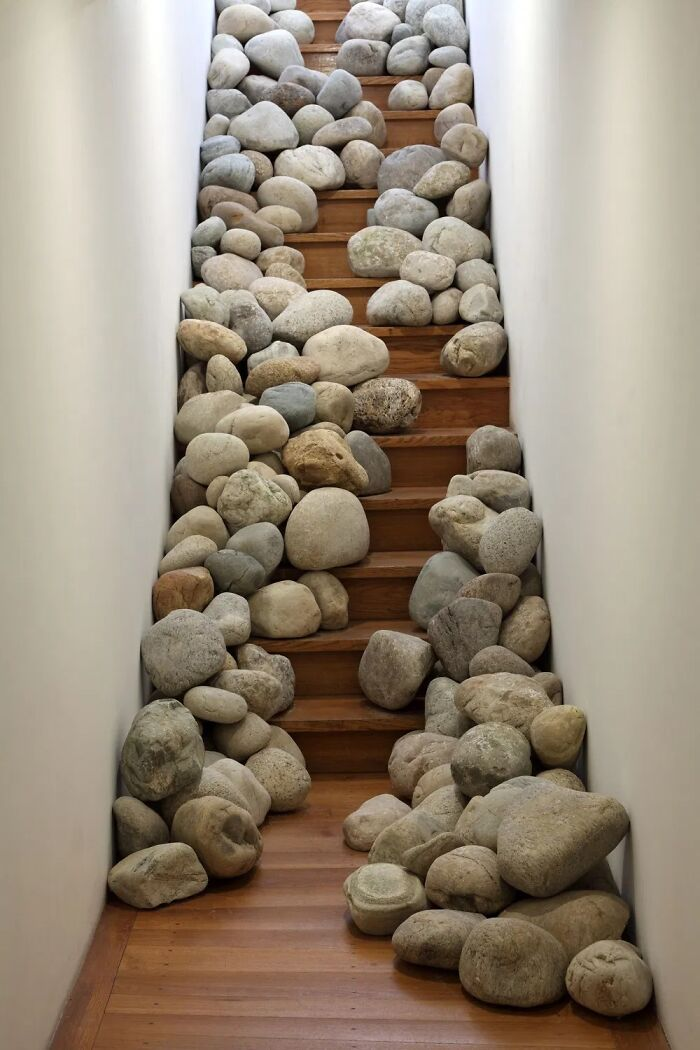 Staircase Beautified With Loose Boulders And A Broken Pelvis