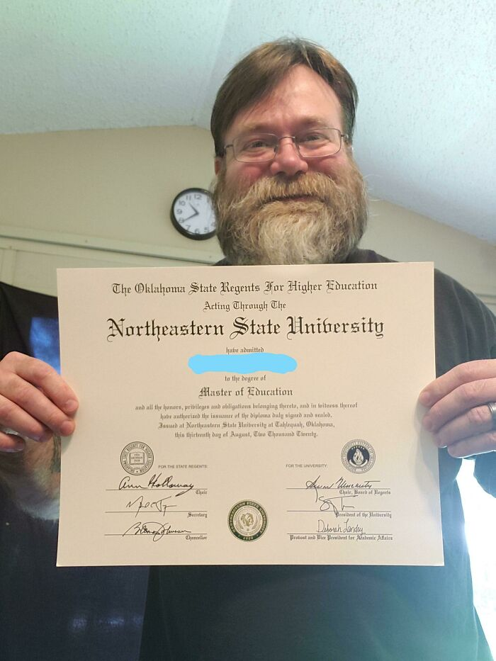 50 And Finally Got My Masters. Super Stoked I Am