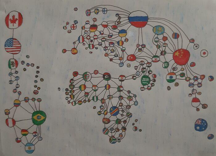 Mapa mundial de fronteras