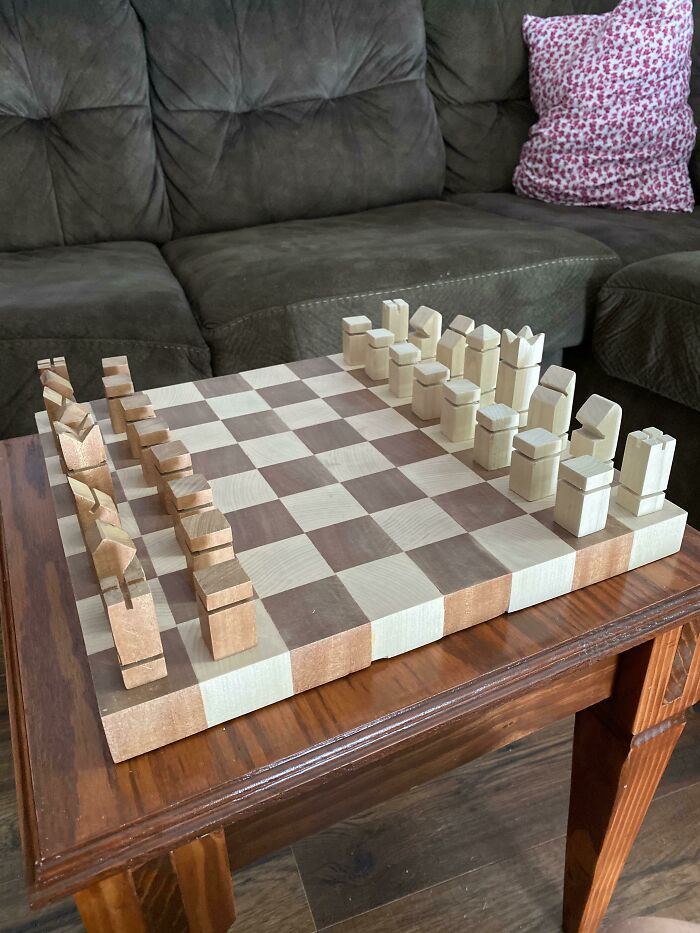 My End Grain Chessboard And Table Saw/Miter Saw Pieces. Thanks For Looking!