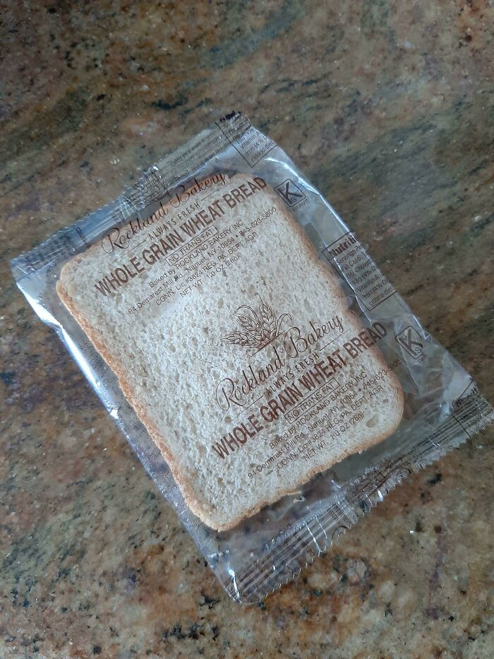 This Individually Packaged Slice Of Whole Wheat Bread