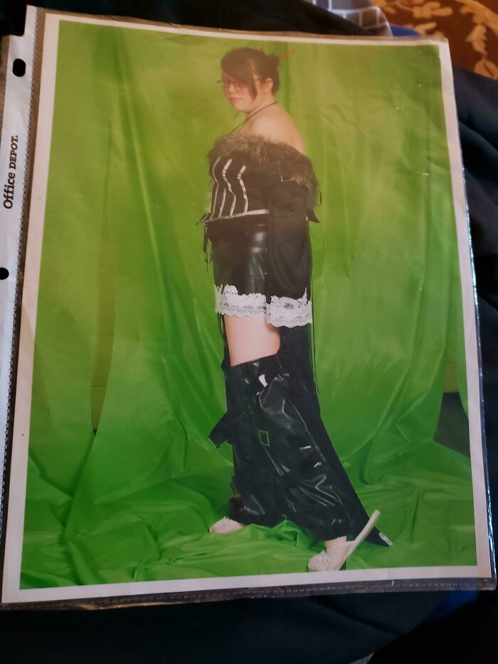 My Mom Paid Money To Have This Very Professional Photo Taken At An Anime Convention In 2006. The Page Protector It Was Put In Really Helped Preserve The Quality