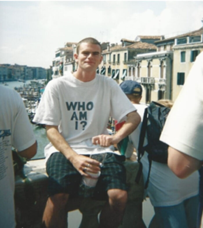 Me, 1995, In Venice, Backpacking Across Europe In Search Of My True Identity. At Least I Wasn't Too Obvious About The Whole Situation