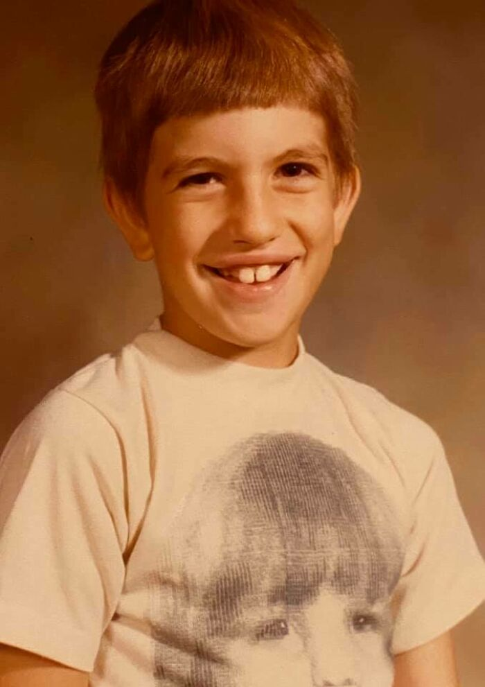 Circa 3rd Grade, 1980: My Dad Cut My Hair And I Wore A Shirt With My Own Face On It